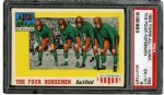 1955 TOPPS ALL AMERICAN #68 THE FOUR HORSEMEN EX-MT PSA 6