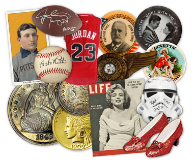 Sports Memorabilia and Vintage Collectibles Auction
